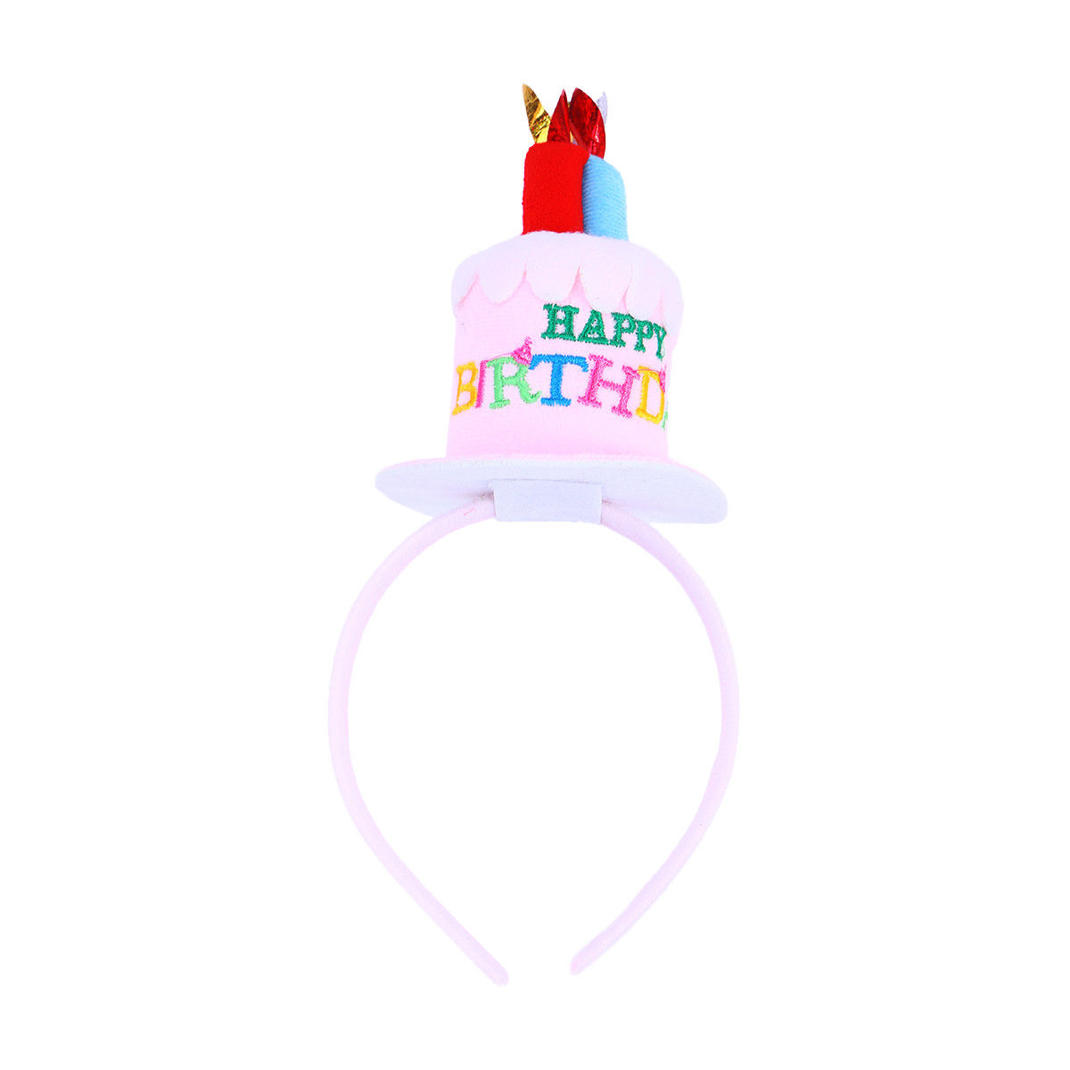 Funny Happy Birthday Cake Candles Headband Women Lady Girls Party Hair Band Gift