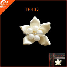 large handmade fabric flower pearl brooches