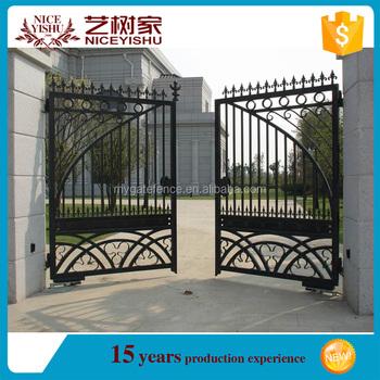 Yishujia Factory Gates And Steel Fence Design Door Designs Modern Sliding Iron Gate