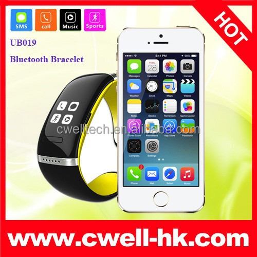 New Anti-loss Bluetooth Bracelet Watch With OLED Incoming Call Caller ID Show Good Quality China Original Bluetooth Smart Watch
