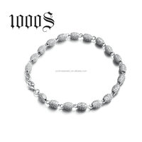 CZ Micro Pave Beads Bracelet 925 Sterling Silver Jewelry Latest New Designs