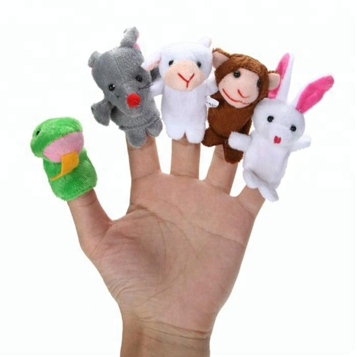 Baby Educational Toy Plush Animal Mini Finger puppets Soft Toys