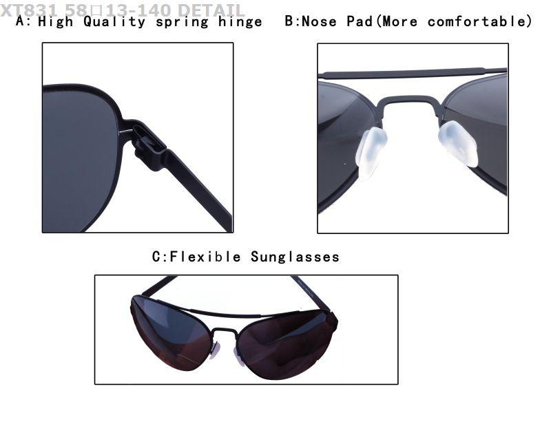 56fe71bc7f 2018 new arrival metal custom logo fashionable high quality polarized uv400  spring hinge sunglasses in stock
