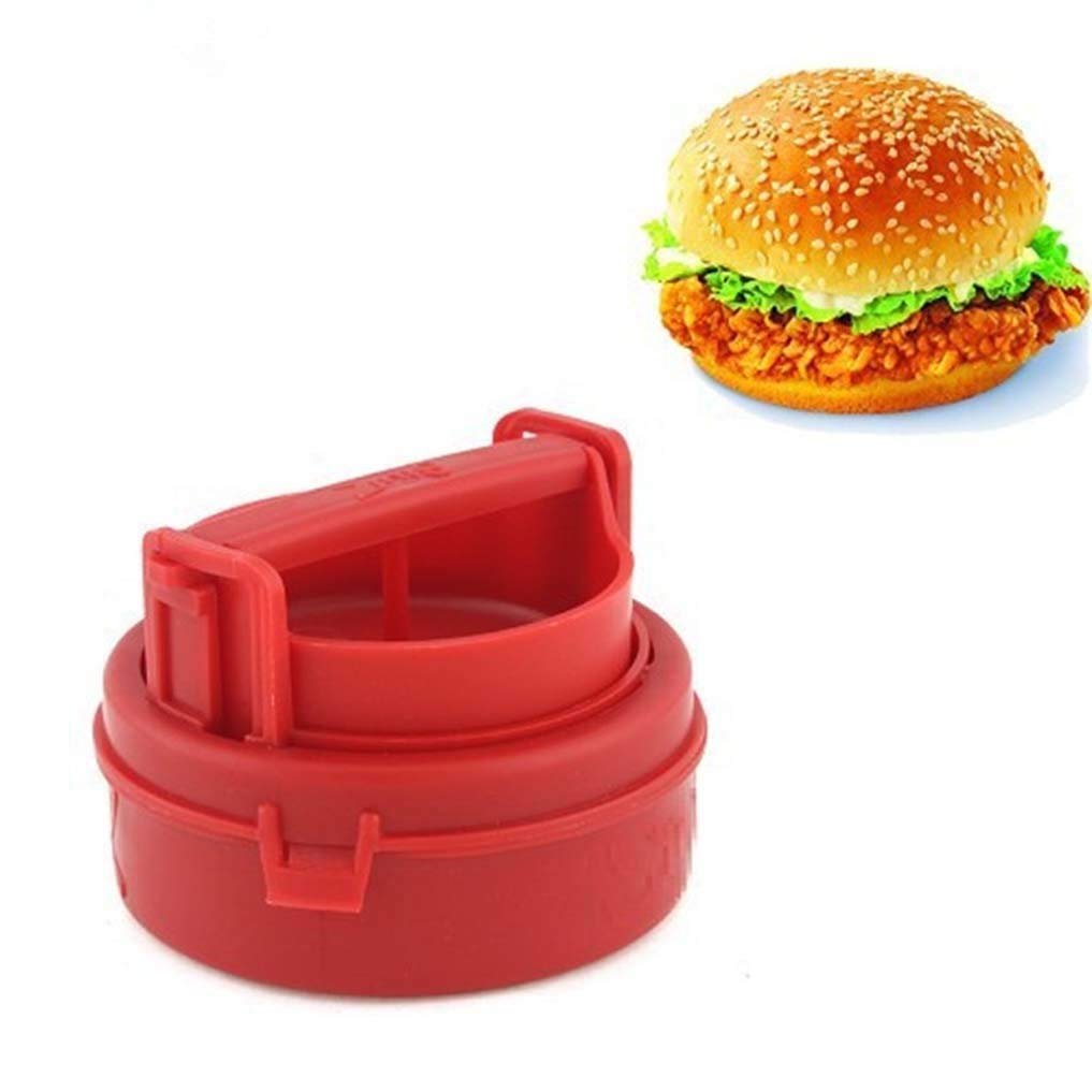 Veggie Burger Press Patty Kit Maker, Easy to Use, Dishwasher Safe, Works Best for Stuffed Burgers