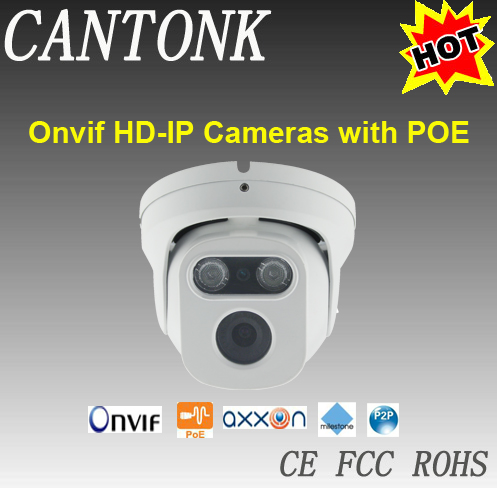 Ceiling Mounted PoE IP camera, Clear viewing vision