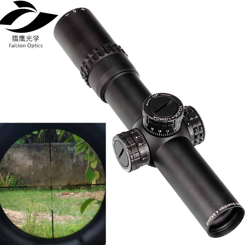4.5x24 Tactical Optics Sight 1/2 Half Mil Dot Reticle Hunting Rifle Scope 30mm Tube Turrets Reset Riflescope Hunting