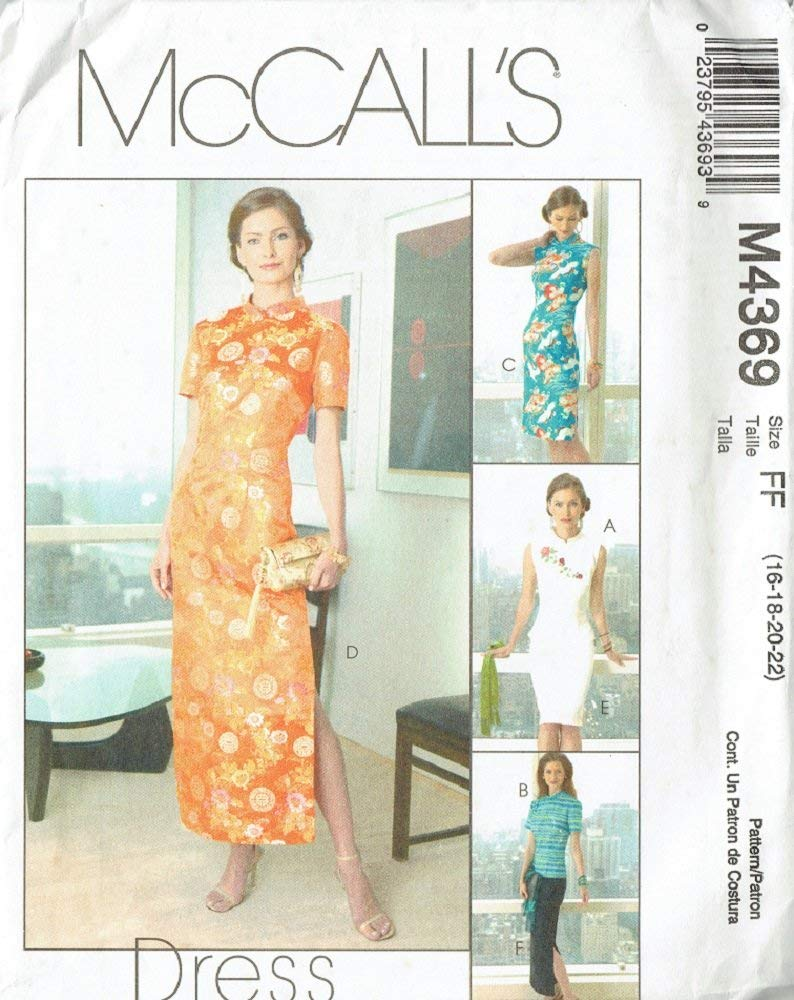 McCall's Pattern M4369 Misses Tops, Dress and Skirt - Sizes 16, 18, 20 and 22