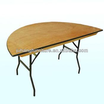 Hot S Wooden Banquet Half Moon Table