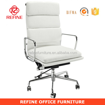 Modern White Leather Conference Chairs For Offices With Casters And  Armrests Rf-s064b - Buy Leather Conference Chairs For Offices,Leather  Conference ...