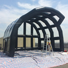 Strong PVC tarpaulin large inflatable transparent bubble tent for rent with the frame