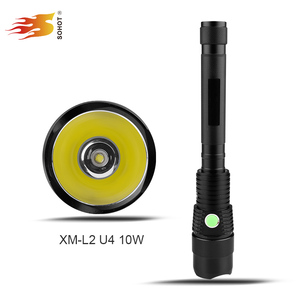 Factory price xml U21000lm led long range rechargeable torch,10w police torch light,high density 1km torch