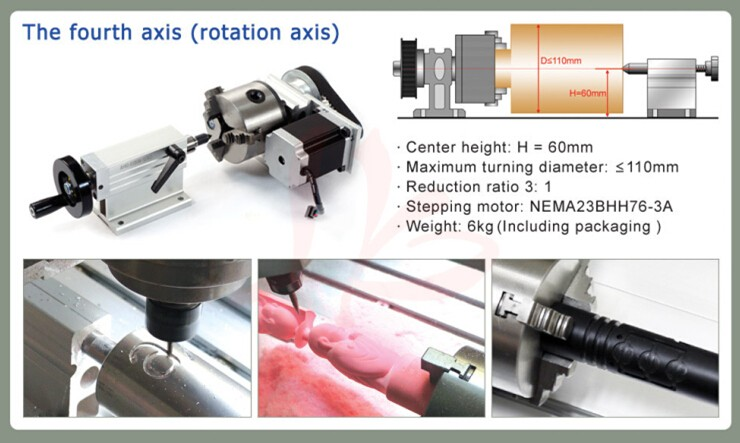 CNC milling machine 8060 with USB Port high precision cnc router for metal aluminum etc