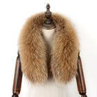 Elegant shape fox fur collar and cuff collar fur raccoon mens winter coat fur collar
