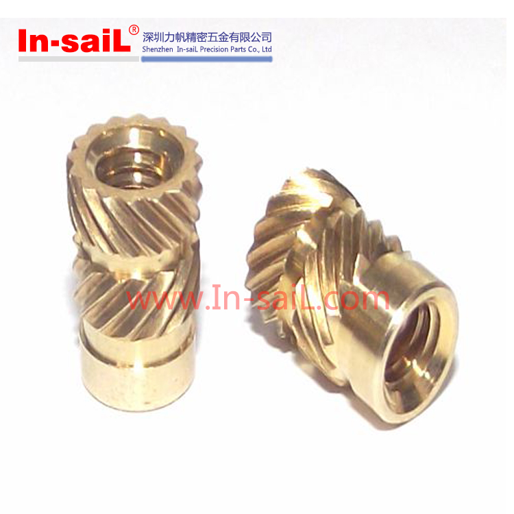 Cnc Precision Threaded Brass Knurled Hot Melt,Plastic Molding ...