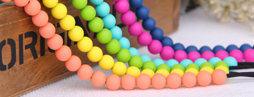 9mm/12mm/15mm/19mm Bpa Free Soft Round Jewelry Baby Silicone Teething Bead