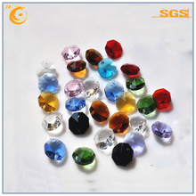 christmas octagon crystal 14mm octagon crystal bead hanging decoration