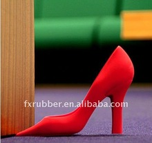 Lovely Design Different Color High Heel Shoes Shape Silicone Door Stopper