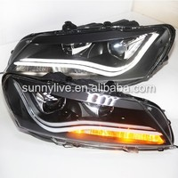 For VW Passat B7 LED Strip Head Lamp Angel Eyes 2011 LDV2 Type