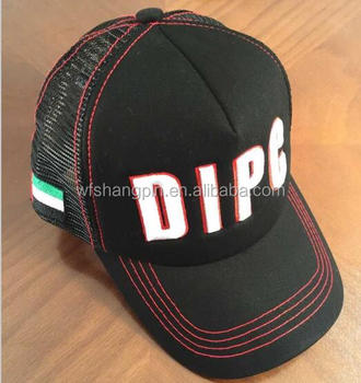 Contrast Stitch Custom 3D Embroidered Foam Mesh Trucker Cap Hat with Your Own  Logo bd2e31f178e