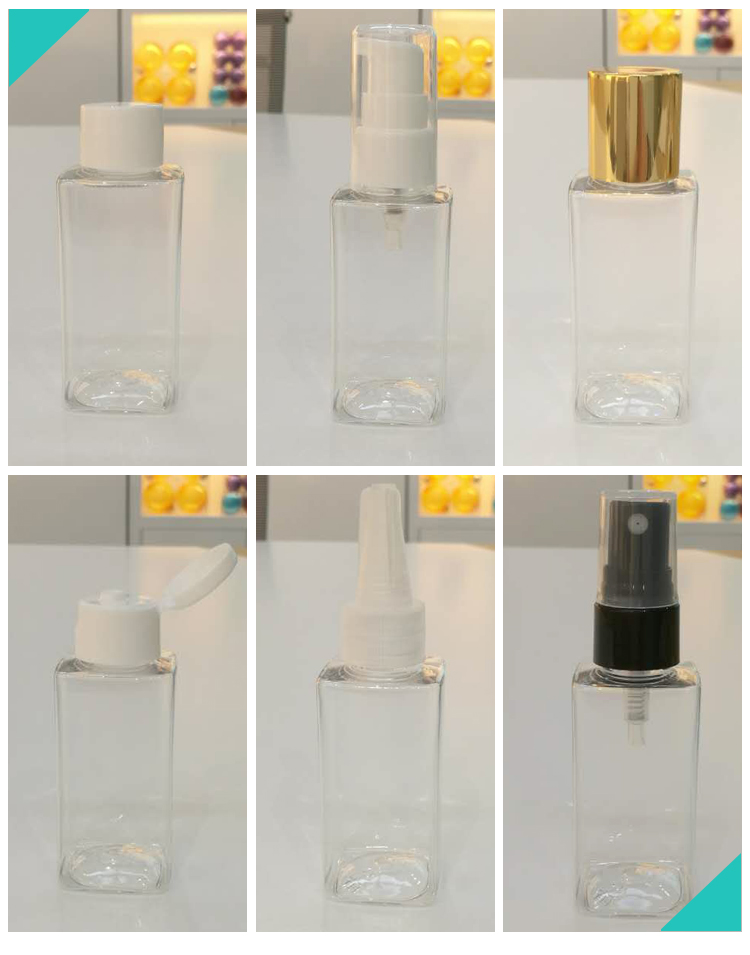 COSMETIC USE SQUARE 100ML ECO FRIENDLY SPRAY BOTTLES