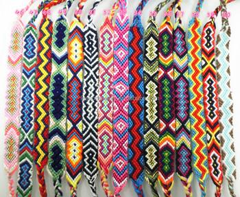 2017 Handmade Custom Whole Brazilian Bracelets Woven Rope String Hippy Boho Crochet Cotton Friendship For