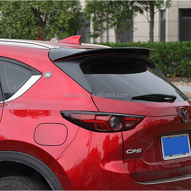 Car Styling Exterior Universal Style Rear Spoiler Wing Tail Trunk Lid Cover Roof Spoiler Decoration For Mazda CX-5 CX5 2012-2019