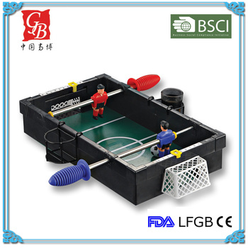MIni table football game drinking game set without 2 metal holder for shot glass mini soccer table game