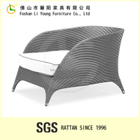 Outdoor modern rattan stainless single chair made by PE rattan buy furniture from china online LG55-8516