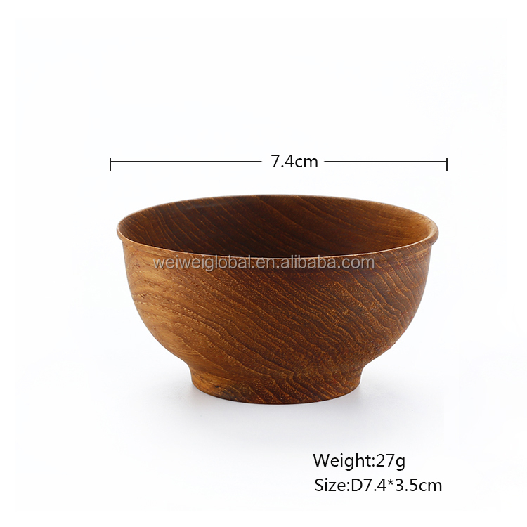 Luxury Teak Wood Bowl Round Small Design For Sala/Rice/Food/Soup