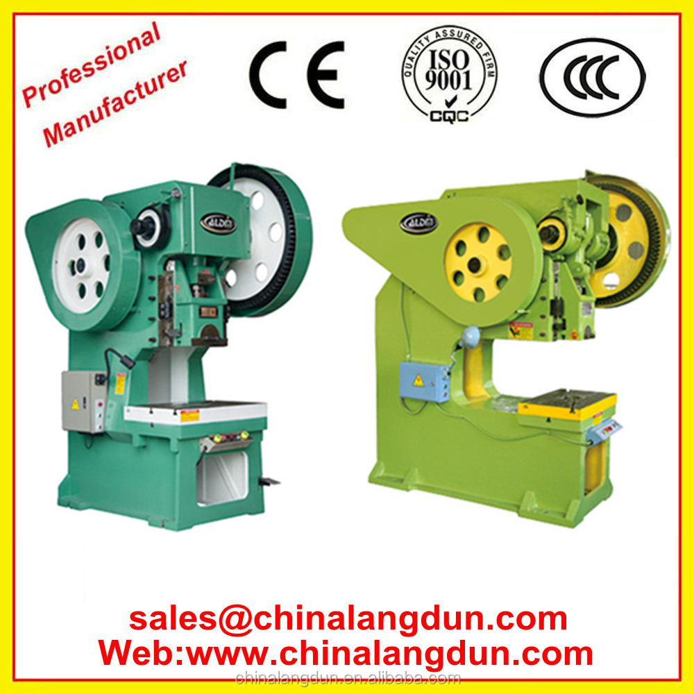 made in china press eccentric JB23-10T manual hole punching machine cost