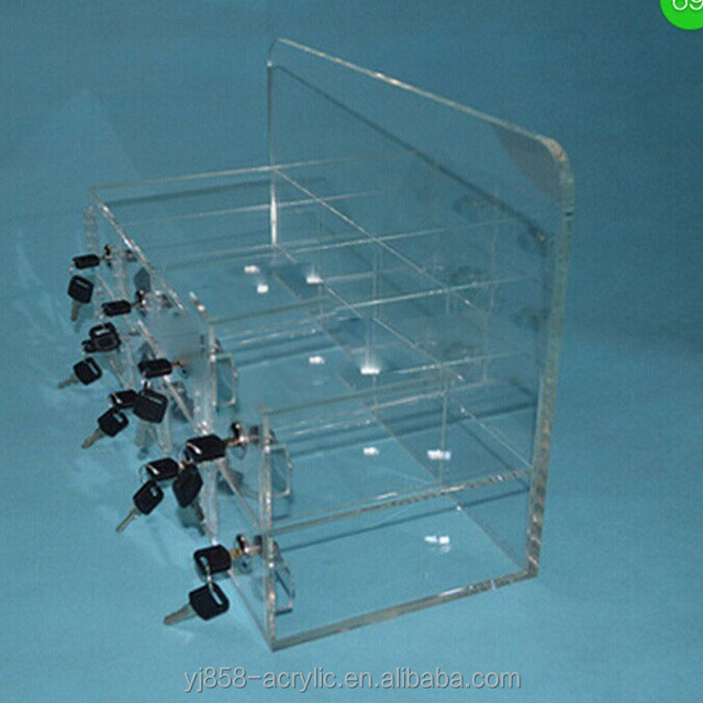 Perfect Hotel Chamber Guest Mobile Phone Acrylic Plexiglass Storage Box With Lock