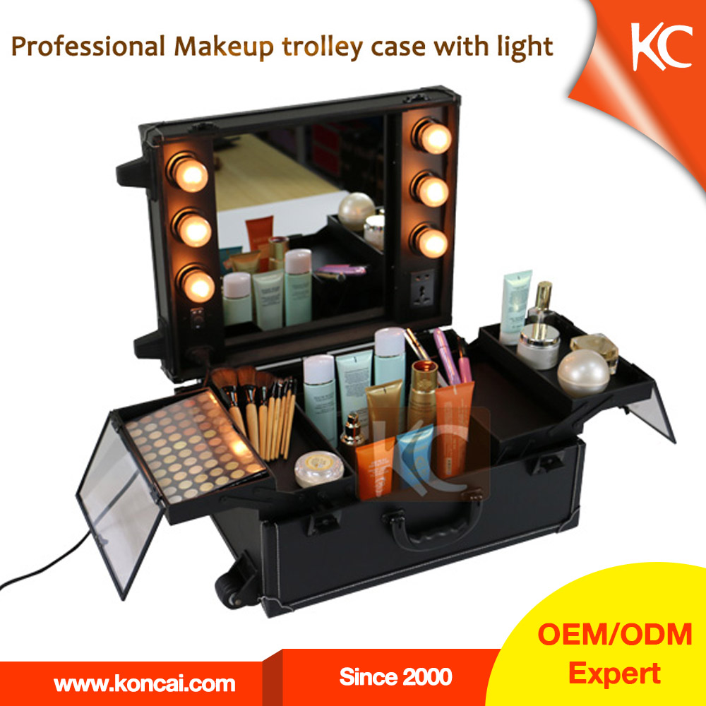 pvc trolley lampe make up bei beauty case kosmetik etui. Black Bedroom Furniture Sets. Home Design Ideas