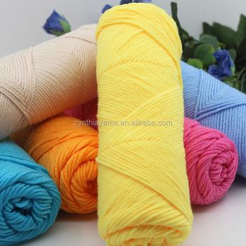 Slub Yarnknitting Cotton Slub Yarn 100g Skeins Yarn For Hand Knit