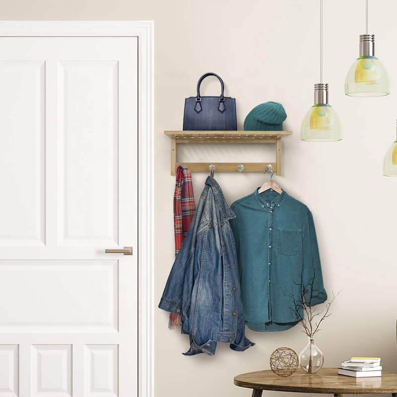 Wall-Mounted Coat Rack Hooks Simple Retro Utility Rustic Hooks Door Hook Hanger For Bag Clothes Coat 5