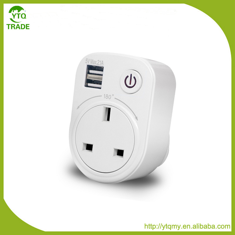 New Product of Rechargeable Double USB UK Type For Travel Smart Outlet