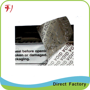 Anti theft barcode labels void label self adhesive sticker