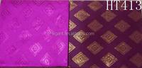Wedding decoration wholesale 2016 nigeria purple color african sequins gele headtie African Head Tie