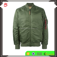 Men bomber jacket wholesale olive green 100 polyester jackets in cheap price