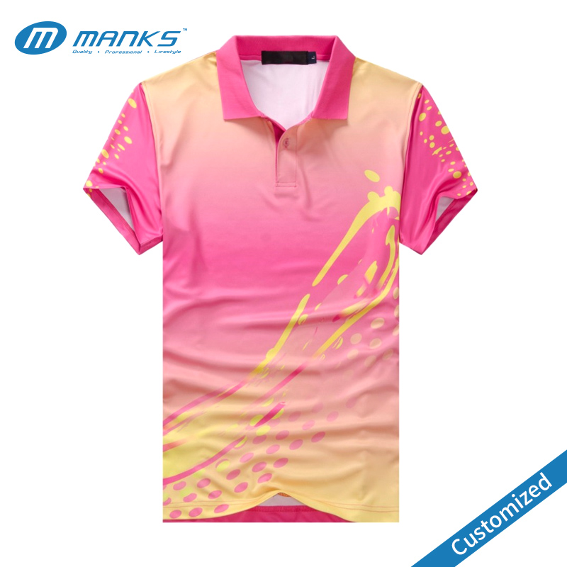 Customized high quality soft 100% polyester dryfit wicking performance dye sublimation print polo shirt