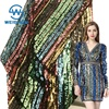Wholesale Custom-made Stretch Colorful Rainbow India Iridescent Sequin Fabric