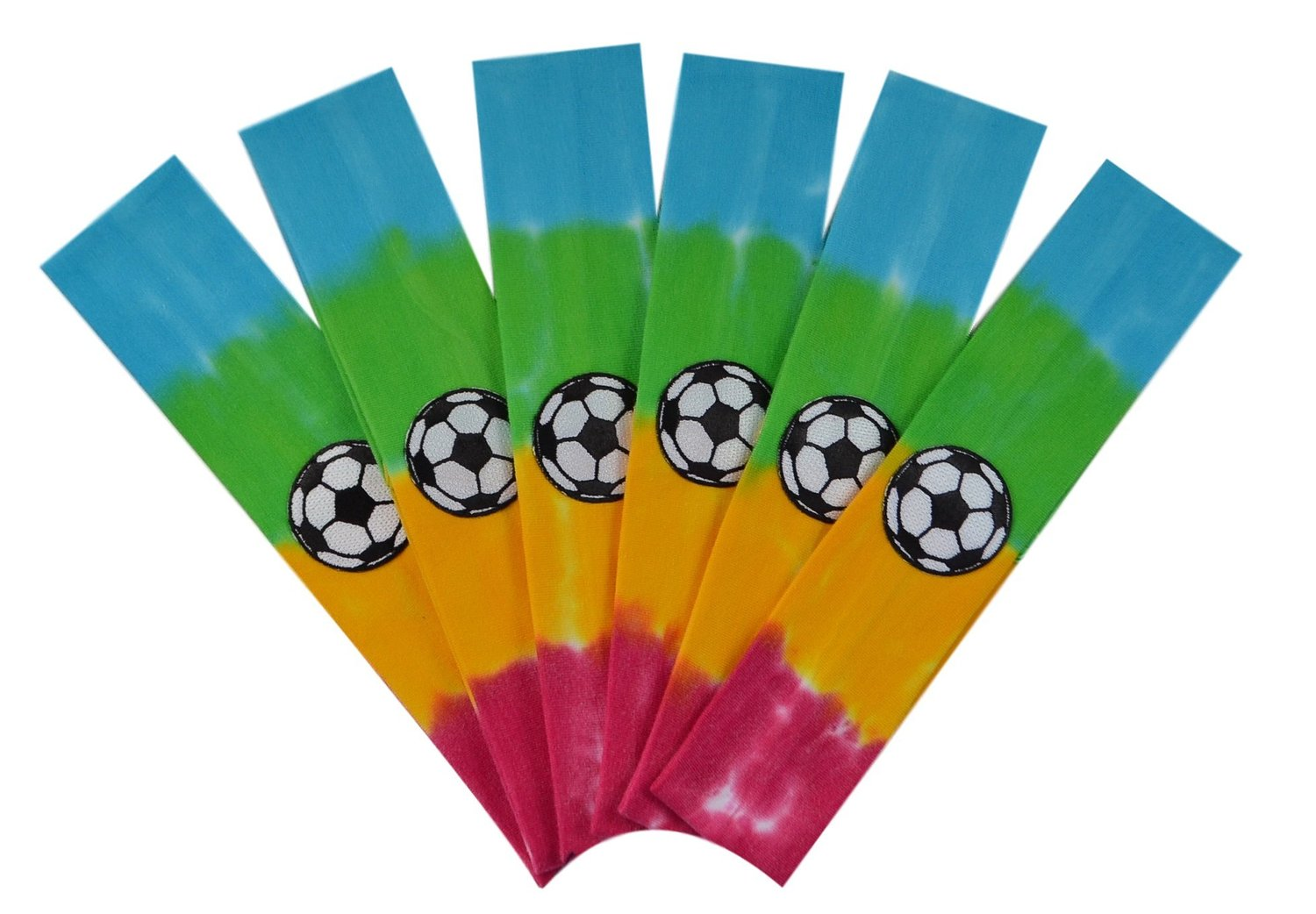 Soccer Team Headbands with Soccer Ball Patch (Set of 6) By Funny Girl Designs - Many Colors Available!