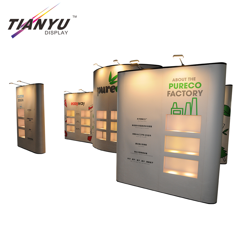 Exhibition Stand Pop Up : High quality luxury portable advertising pop up stand foldable