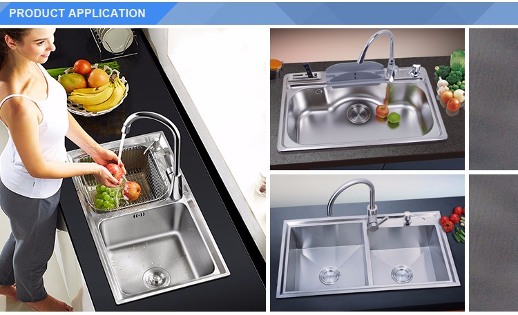 Good quality low price double bowl russia stainless double kitchen sink
