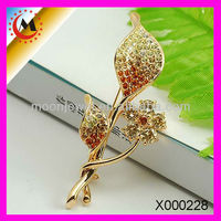 FASHION JEWELRYGOLD FLOWER BROOCH YELLOW GOLD BEAUTIFUL BROOCH IN ALIBABA