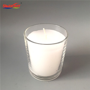 Color Glowing White Christmas Colored Handmade Glass Candles Set