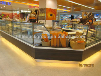 Commercial refrigeator- service counter with vertical glass cover