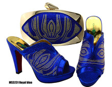 African shoe and bag set big size 43 matching italian shoes bags to match women