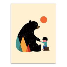 Кавайные животные, друг, медведь, собака, кошка, объятия, A4, постер, Скандинавская детская комната, настенные художественные фотографии, дома...(Китай)