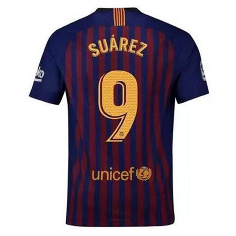 7cbd2b9ea Get Quotations · Fiueker Men s Suarez Jerseys Barcelona  9 Soccer Jersey  2018 2019 Home Shirt