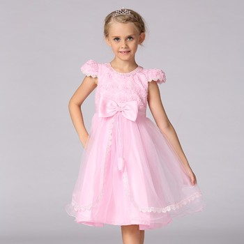 Children Wedding Dress Satin Fabric Wholesale Kids Clothing Baby ...